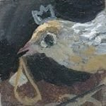 #356 remembering how to fly 2009 acrylic on board 3x3cm Christine Porter