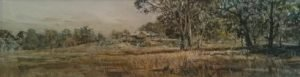 house-on-the-hill-2011-watercolour-on-paper-83x25cm-christine-porter