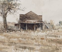 'The shop - old texas' 2011 watercolour 32x22cm Sold