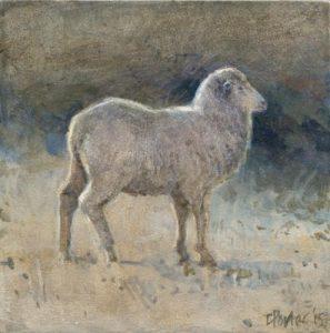 ewe-2015-acrylic-on-board-9x9cm-christine-porter