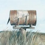 the-mailbox-1996-watercolour-on-paper