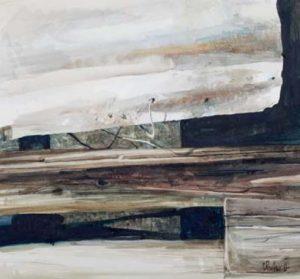 'wire and tin I' 2011 watercolour 27x25cm Christine Porter