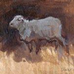 ewe-2009-watercolour-on-body-colour-approx-8x6cm-christine-porter