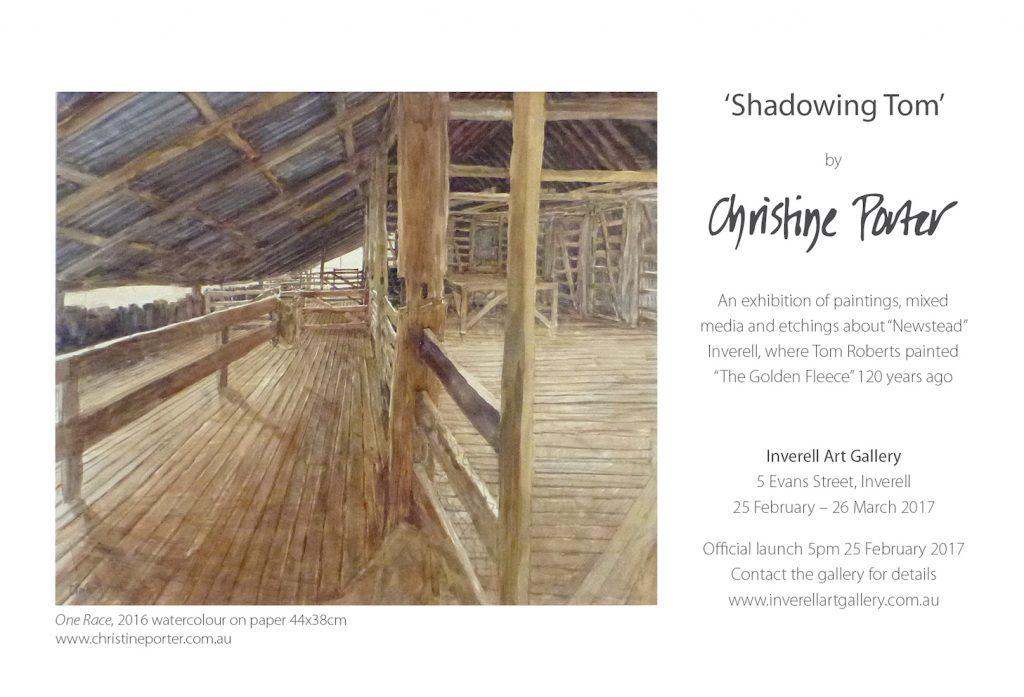 EXHIBITION 'Shadowing Tom' Inverell Art Gallery Feb25-Mar26 2017
