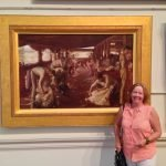 christine-porter-at-the-nsw-art-gallery-in-front-of-%22-the-golden-fleece-which-was-painted-at-newstead