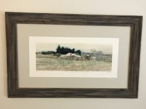 """""""The Old House"""" Giclee Print by Christine Porter Framed"""