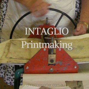 Colour Printmaking workshop - Intaglio. with Australian Artist Christine Porter
