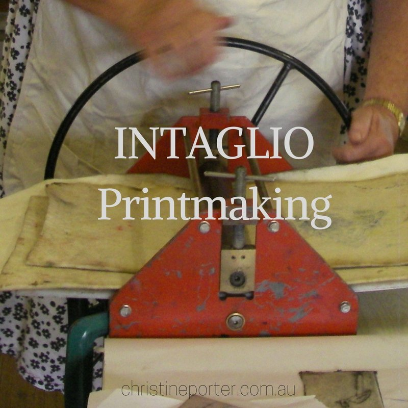 Colour Printmaking workshop - Intaglio. with Australian Artist Christine Porter