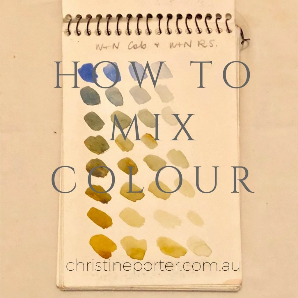 How to mix colour - watercolour workshop with Australian Artist Christine Porter