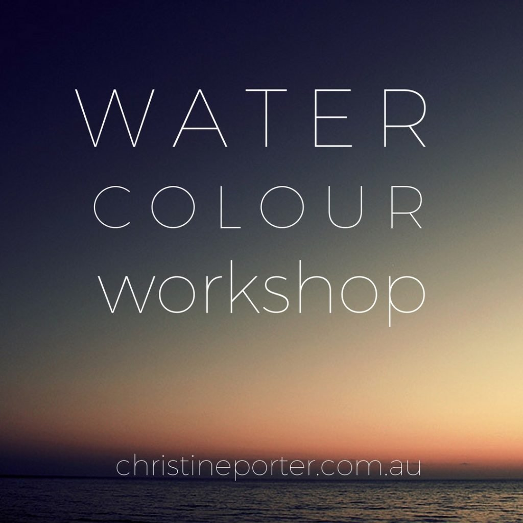 """How to paint with watercolour"" Workshop by Australian Artist Christine Porter"