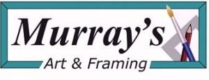 Logo of Murray's Art and Framing. The words and a bit of a frame around it.